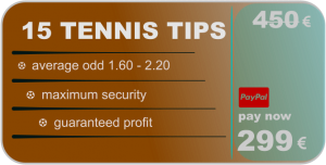 15 tennis tips - betting predictions